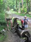 Osvěžení u Zelené chýše cestou k České Studánce