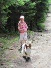 Derek BB a Nikolka, cesta mezi Černým a Čertovým jezerem 12.7.2009
